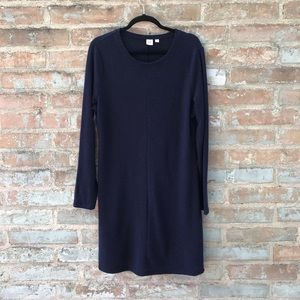 GAP Sweater Dress Navy Ribbed Swing Sweaterdress